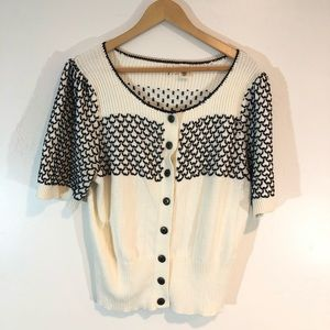 Moth Anthropologie Embroidered Cardigan XL